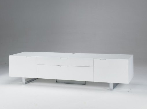 Mueble tv plate one - Mueble lacado blanco ...