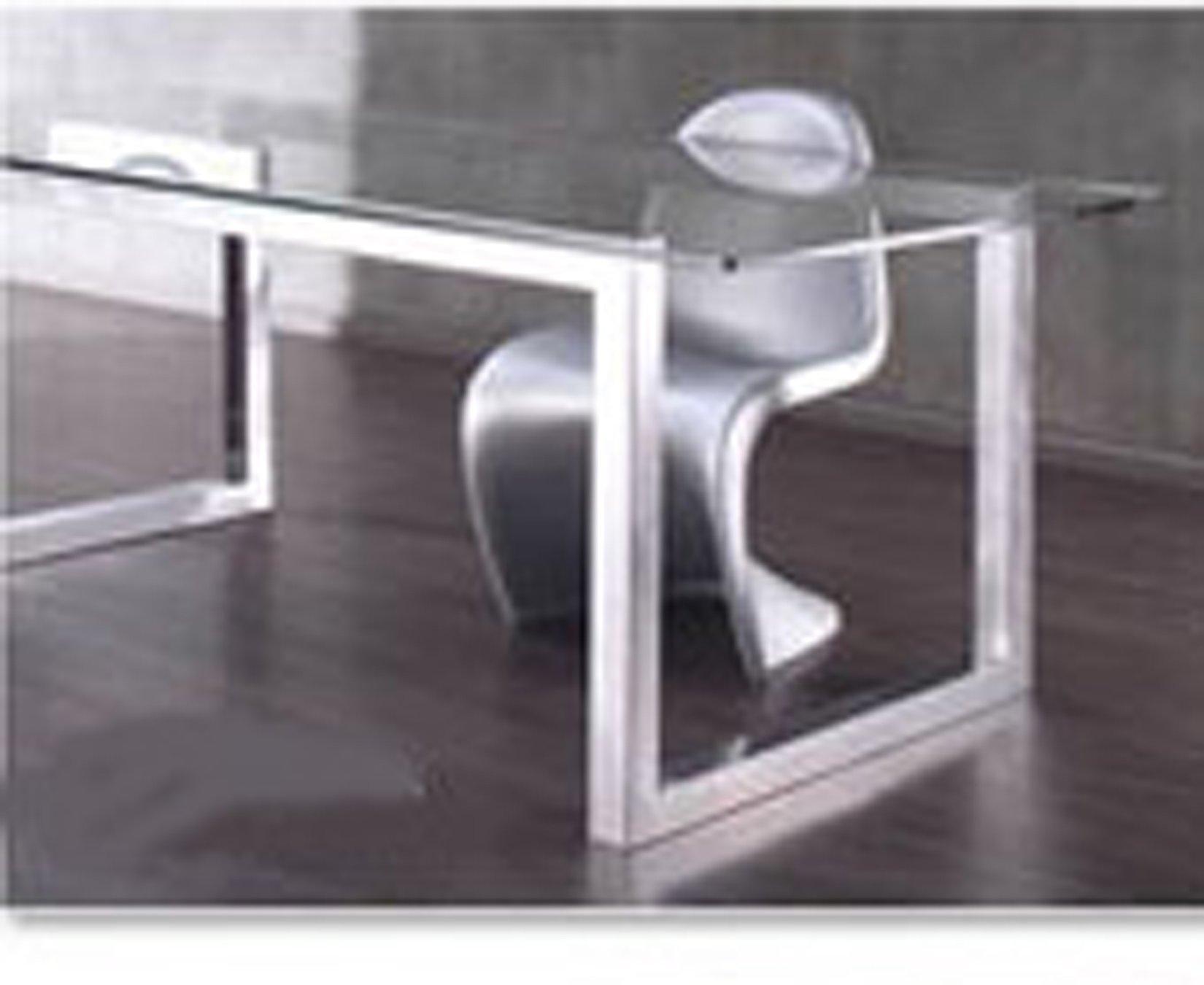 Mesa aster acero inoxidable cristal car interior design for Mesa cristal acero