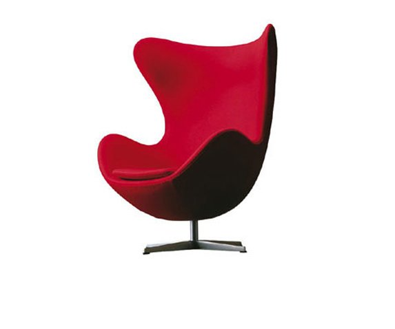 Sillon huevo jacobsen for Sillas y sillones modernos