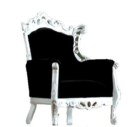Sill n barroco blanco for Sillon cama blanco