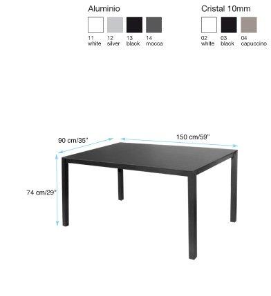 Mesa terraza una sobre cristal for Cristal mesa a medida