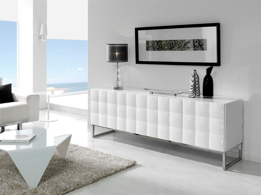 Aparador blanco modelo loft for Muebles aparadores modernos