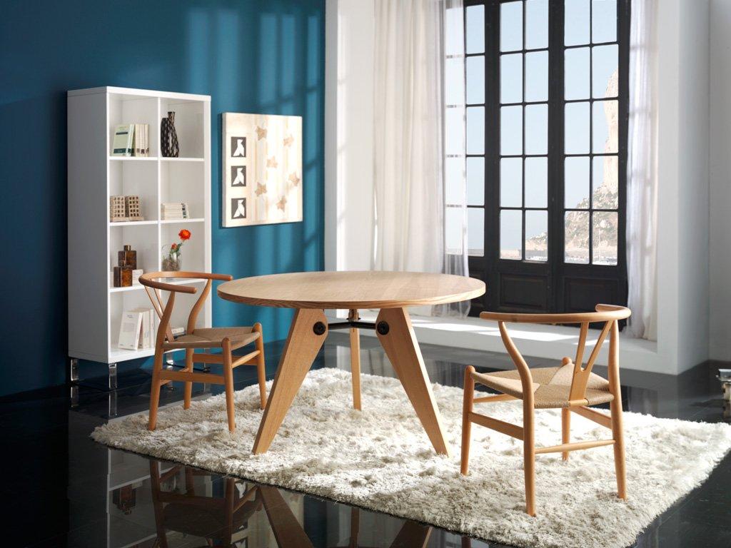 Mesa de fresno natural atrio for Natura muebles