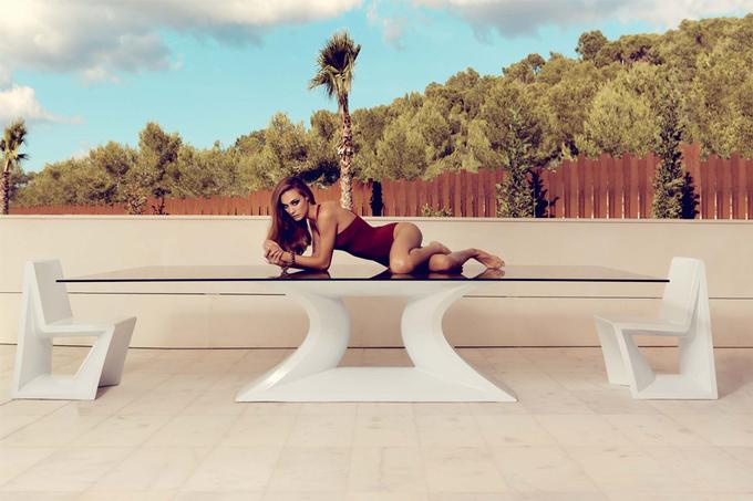 Mesa rest vondom for Table de jardin dessus verre