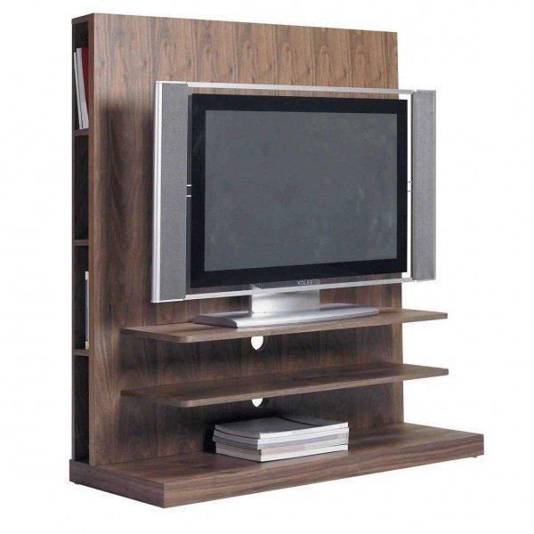 Mueble tv nogal for Muebles auxiliares para television