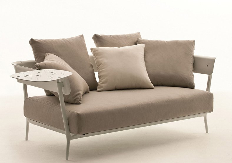 Sof privasso terraza for Sofa exterior blanco