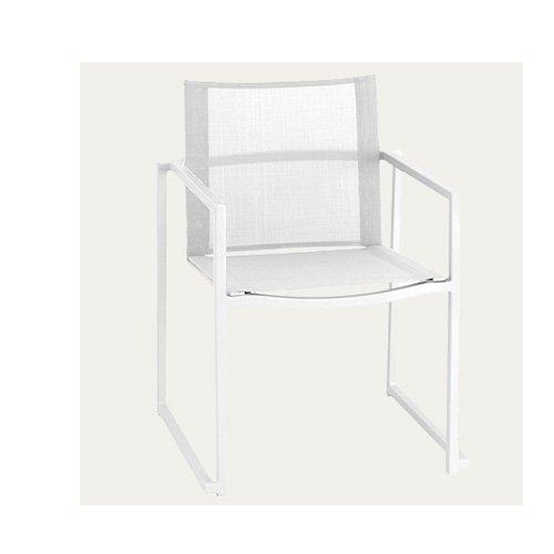 Silla comedor exterior for Muebles exterior aluminio blanco