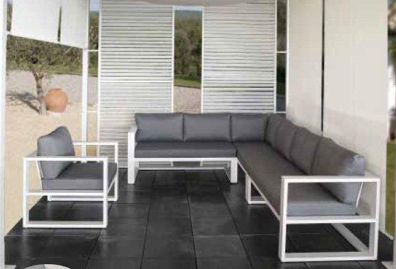 Butaca exterior y sof s m dulos exterior for Sofa exterior aluminio blanco