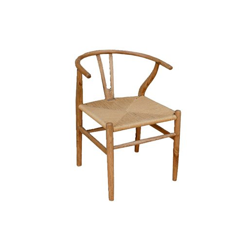 Silla wishbone roble for Silla vintage reposabrazos roble natural