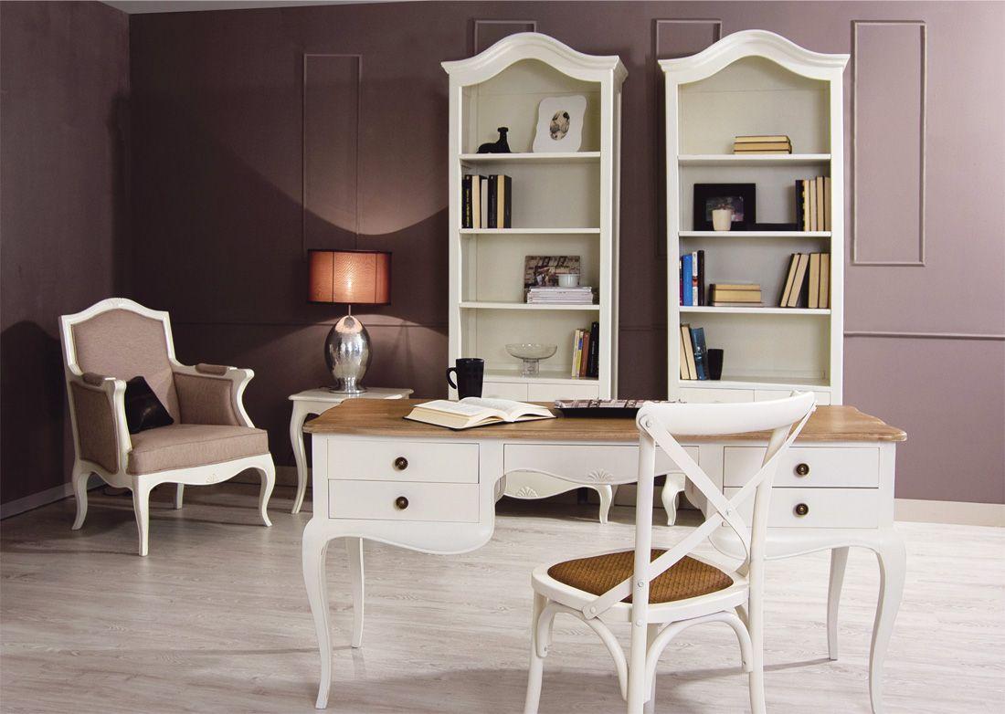 Mesa escritorio provenzal rustico for Mueble bar rustico