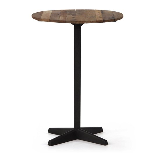 Mesas altas 110 cm maciza madera for Mesas o muebles para telefonos