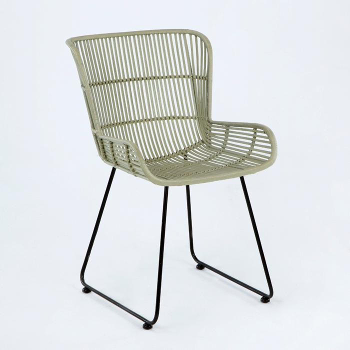 Sillas de mimbre perfect silla metal mimbre with sillas for Silla colgante mimbre