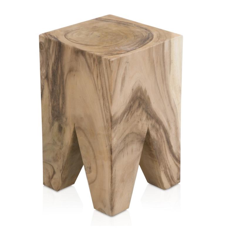 Taburete tronco de madera - Taburete de madera ...