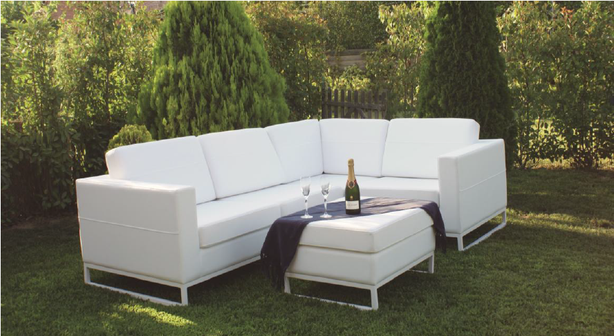 Sofa modular dr exterior for Sofa exterior blanco