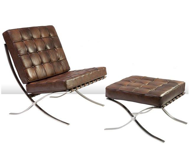 Silla barcelona piel for Vibbo barcelona muebles