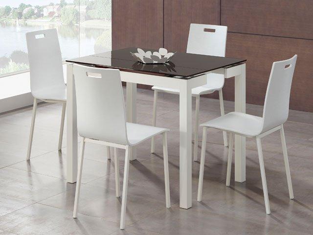 Mesa cocina serie 603 for Mesas de cocina de cristal