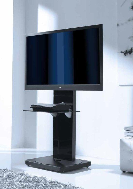 Mueble tv lacado negro hasta 46 for Mueble tv negro