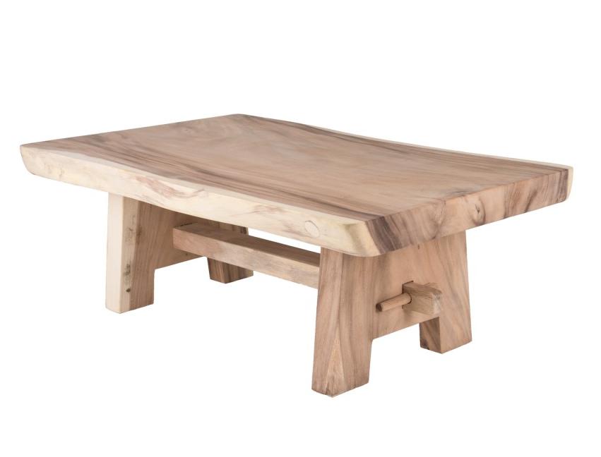Mesa centro tronco madera maciza for Mesa de centro madera maciza